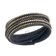 Slake Black Crystal Dorado Bracelet by Swarovski Swarovski Slake Bracelet, Swarovski Jewelry, Crystal Bracelets, Bangle Bracelets, Swarovski Crystals, Bangles, Connoisseurs Jewelry Cleaner, Fashion Bracelets, Accessories