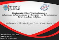 Noticias de Cúcuta: 'Uso y Apropiación de las TIC' recibirán certifica...