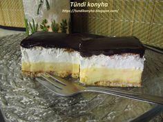 Hamis francia krémes (kekszből) Recept képpel - Mindmegette.hu - Receptek Tiramisu, Cupcake, Cheesecake, Ethnic Recipes, Desserts, Food, Squares, Tailgate Desserts, Deserts