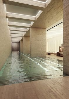 An indoor pool in the 741-foot-tall Melbourne Tower by Elenberg Fraser.