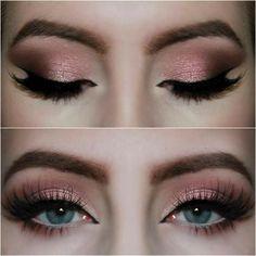 wet n wild rose eyeshadow palette in the air Sexy Eye Makeup, Eye Makeup Steps, Smokey Eye Makeup, Light Eye Makeup, Pretty Makeup, Light Smoky Eye, Gold Smokey Eye, Make Up Gold, Eye Make Up