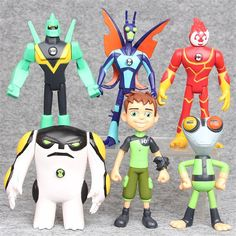 6 pcs BEN 10 Protector of Earth Family Cartoon Action Figures Toy for Children | eBay