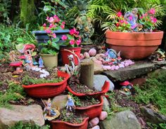 As Time Goes By, Enchanted Garden, Faeries, Planter Pots, Fairies, Fairy, Imagination