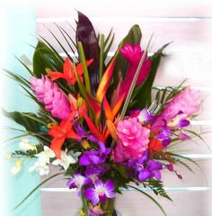 Crazy about these flowers! Tropical assortment.