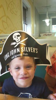 At Long John Silver's with Gigi - 7/08/15