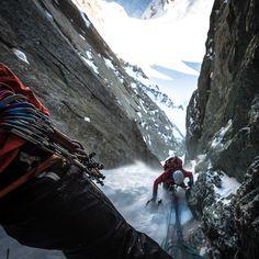 Ice climbing climb