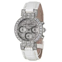 Harry Winston Women's Premier Midsize Lotus Chronograph Watch featuring 4.22 ctw of Diamonds!