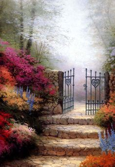 Thomas Kinkade - I like imagining what's on the other side.