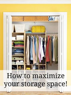 How to maximize your storage space. Great tips for small homes or apartments!