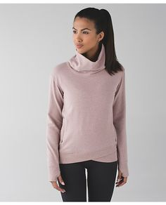 Lululemon on the double pullover | heathered bark berry | size 6