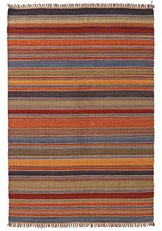 Ooty Stripe Indian Kilim Rug, 180 x 270cm