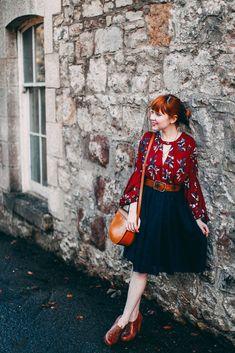 Remix: Three Ways To Wear An Oxblood Floral Dress