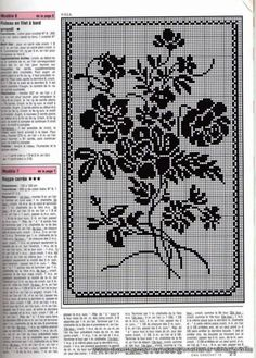 t Thread Crochet, Knit Or Crochet, Crochet Stitches, Cross Stitch Rose, Cross Stitch Flowers, Cross Stitch Designs, Cross Stitch Patterns, Crochet Designs, Crochet Patterns