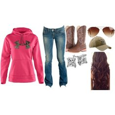 Love the hair, jeans and hoodie. I would look cute in this. Country Style Outfits, Country Girl Style, Country Fashion, My Style, Cute Fashion, Fashion Outfits, Womens Fashion, Jeans And Hoodie, Cowgirl Outfits