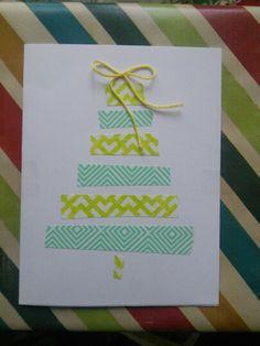 Washi tape christmas card!