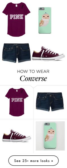 """Outfit 624"" by that-girl-j on Polyvore featuring Aéropostale and Converse"