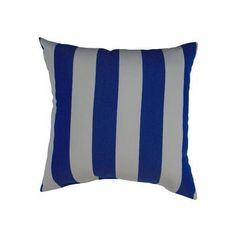 Easy Way Products Sunbrella Maxim Stripe Throw Pillow Color: Riviera