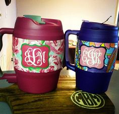 Monogram Lilly Pultzer bubba kegs  Etsy - Custom Coolers