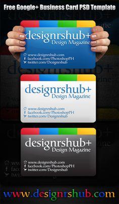 Free Google+ (Plus) Business Card PSD Template