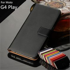 cover case Premium PU Leather Wallet Flip Case for Motorola Moto G4 Play with Card Slots and Cash Holder GG #Affiliate
