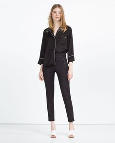 MID-RISE SKINNY TROUSERS-View All-TROUSERS-WOMAN | ZARA United States