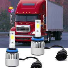 2pcs Kit Xenon White LED Super Fog Light Driving Bulbs for Freightliner Columbia