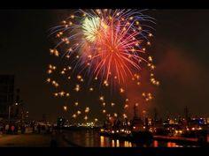 Geschenk für Geburtstag! Geburtstagsfeuerwerk auf die Elbe
