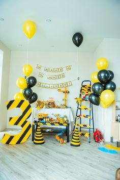 Birthday, construction, yellow, construction – Pastry World 3rd Birthday Party For Boy, Happy 20th Birthday, Birthday Party Decorations, Construction Birthday Parties, Construction Party, Transportation Birthday, Happy Birthday Wallpaper, Threenager, Ideas