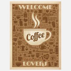 Coffee Pattern Print