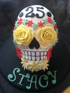 """Day of the dead skull cake in """"Birthday Cake Photos"""" — Photo 1 of 1"""