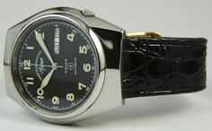 Vintage West End Watch Co Sowar Black Dial Prima Automatic Day Dater Military | eBay