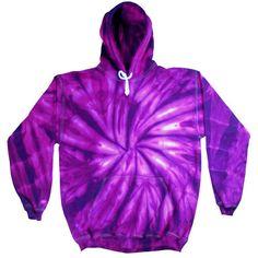 Spider Purple Tie Dye Hoodie