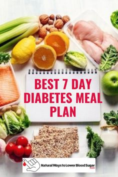 7 day diet to lower blood sugars