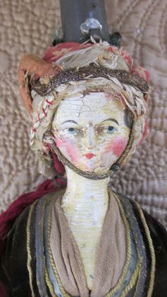 Rare 1820 Tuck Comb Grodnertal Wooden Doll PAIR * All Original * Museum Quality * Extended Layaway Available Antique Quilts, Antique Toys, Vintage Quilts, Victorian Dolls, Vintage Dolls, Fabric Dolls, Paper Dolls, Little Pet Shop Toys, Cute Love Memes