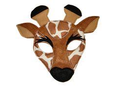 Children's TIGER Felt Safari Jungle Animal Mask by magicalattic