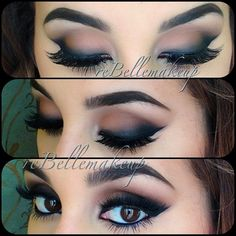 Beautiful eye makeup with a smokey look