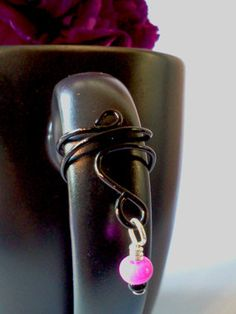 Colorful wire wrap dangle bead ear cuffs by PinkCupcakeJC on Etsy, $3.00