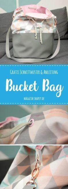 GRATIS Schnittmuster + Nähanleitung: Bucket Bag
