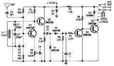 Simple Relay Output Proximity Sensor Circuit
