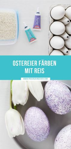 Color Easter eggs with rice - how it works! - provinzki - decorating Easter eggs # dyeing # with . Easter Egg Dye, Coloring Easter Eggs, Sewing Dress, Gift Of Time, Holiday Break, Fabric Remnants, Down Comforter, Free Sewing, Xmas Gifts