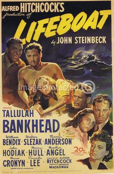 Lifeboat Alfred Hitchcock Vintage Movie 11X17 Poster
