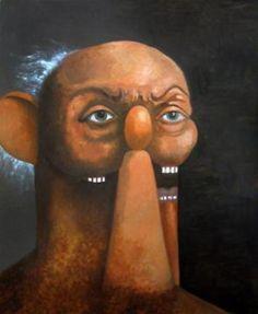 George Condo, Old Man Portrait, 2011 Oil on canvas 90 x 74 inches (228.6 x 188 cm)