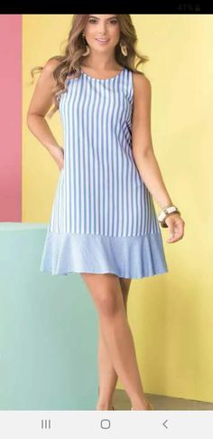 Nice Dresses, Casual Dresses, Short Dresses, Fashion Dresses, Summer Dresses, Clothing Patterns, Dress Patterns, Girl Fashion, Fashion Design