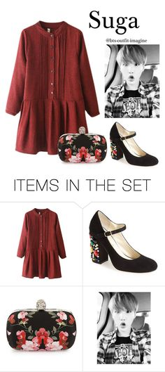 """""""Valentine day (SG)"""" by effie-james ❤ liked on Polyvore featuring art, simple, kpop, korean, bts and Suga"""