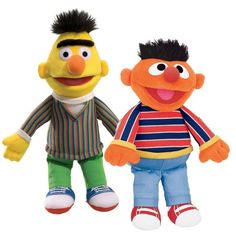 "Sesame Street Ernie 13"" and Bert 14"" Plush Set Of 2 # 75364 # 75365 Gund NWT  #GUND"