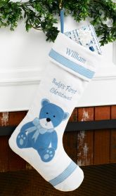 Baby's First Personalized Christmas Stocking Boy