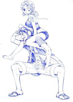 Luffy × Nami