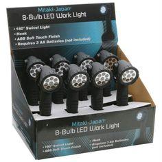 Mitaki-japan 8pc 8-bulb Led Work Lights In Countertop Display- 8pc Disp