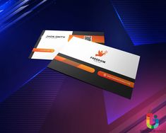 Elegant Orange, Black and White Business Card . Business Card Psd, Modern Business Cards, Business Design, Card Tags, Logo Templates, Free Design, Improve Yourself, How To Make Money, Black And White