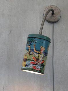 lampen van blikjes  te koop op http://www.thetincanlight.com